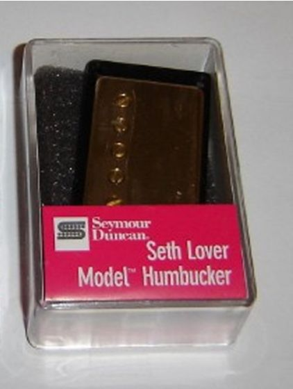 Seymour Duncan Humbucker SH-55B Seth Lover Model 4-Conductor Bridge Pickup Gold Cover, 11101-21-Gc4C