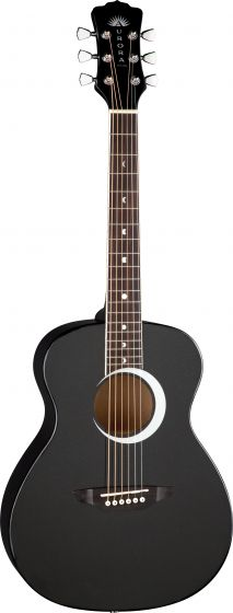 Luna Aurora Borealis 3/4 Guitar Black AR BOR BLK, AR BOR BLK
