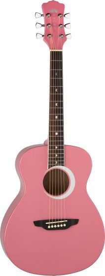 Luna Aurora Borealis 3/4 Acoustic Guitar Pink AR BOR PNK, AR BOR PNK