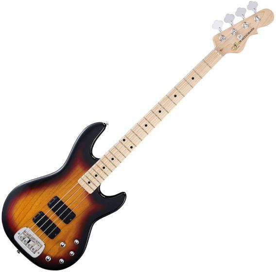 G&L Tribute M-2000 Bass Guitar in 3-Toneburst Finish, M-2000.MP.3TB-A