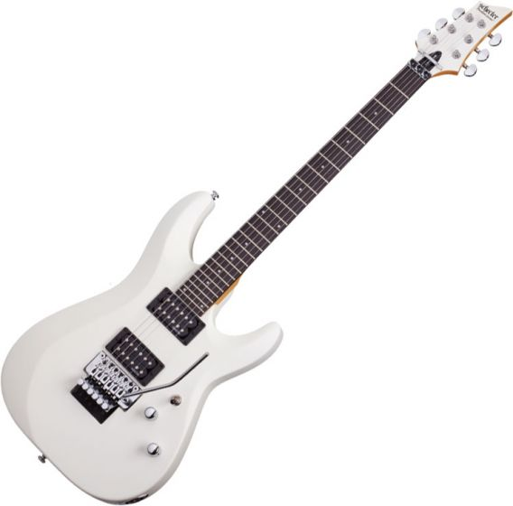 Schecter C-6 FR Deluxe Electric Guitar Satin White[, 435]