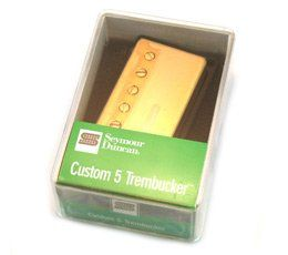 Seymour Duncan TB-14 Trembucker Custom 5 Pickup Gold Cover, 11103-84-Gc