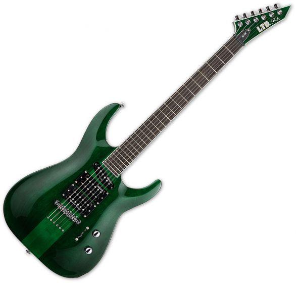 ESP LTD SC-20 Stephen Carpenter Electric Guitar See Thru Green, LSC20STG
