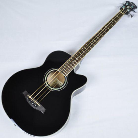 Ibanez AEB10E-BK Artwood Series Acoustic Electric Bass in Black High Gloss Finish, AEB10EBK.B