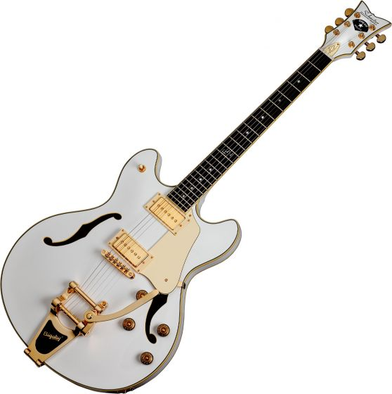 Schecter Signature Robin Zander Corsair Electric Guitar in Gloss White Finish, 2242
