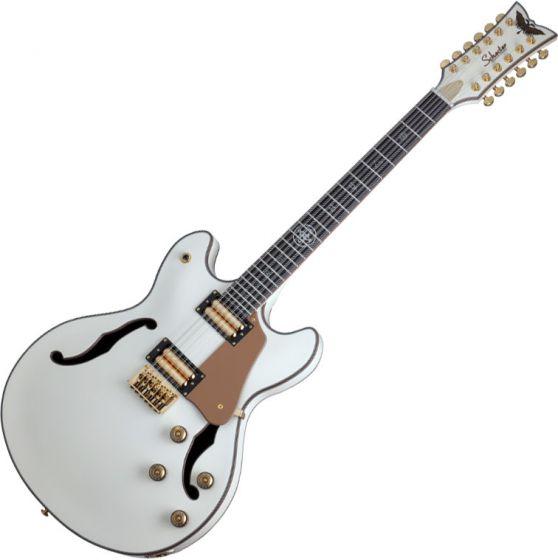 Schecter Wanye Hussey Corsair-12 Semi-Hollow Electric Guitar Ivory, 267