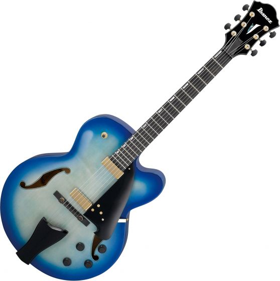 Ibanez Contemporary Archtop AFC155 Hollow Body Electric Guitar Jet Blue Burst, AFC155JBB
