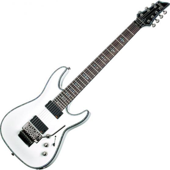 Schecter Hellraiser C-7 FR Electric Guitar Gloss White, 1811