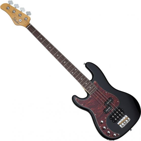 Schecter Diamond-P Plus Left-Handed Electric Bass in Gloss Black Finish, 2860