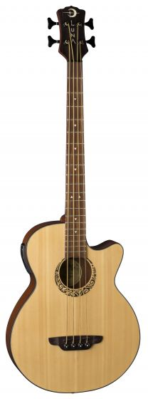 Luna Tribal Acoustic Electric Bass 30 Inch LAB 30 TRIBAL, LAB 30 TRIBAL