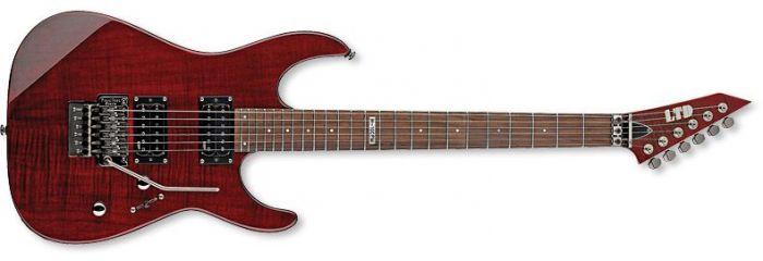 ESP LTD M-100FM Guitar in See-Through Black Cherry, M-100FM STBC