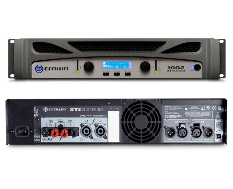 crown xti 1002 two channel 500w power amplifier. Black Bedroom Furniture Sets. Home Design Ideas
