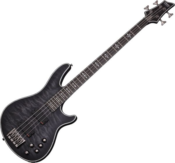Schecter Hellraiser Extreme-4 Electric Bass See Thru Black Satin, 1909