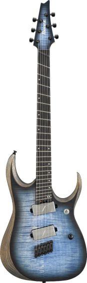 Ibanez RGD Iron Label Multi Scale RGDIM6FM CLF Cerulean Blue Burst Flat Electric Guitar, RGDIM6FMCLF