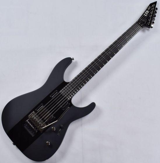 ESP LTD Deluxe M-1000 Electric Guitar in Satin Black with Gloss Stripe, M-1000 Black Stripe