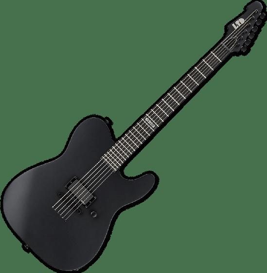 ESP LTD AA-600 Alan Ashby Electric Guitar in Black Satin, LTD AA600 BLKS