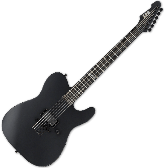 ESP LTD AA-600 Alan Ashby Electric Guitar in Black Satin B-Stock, LTD AA600 BLKS.B