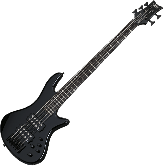 Schecter Stiletto Stage-5 Electric Bass Gloss Black, 2483