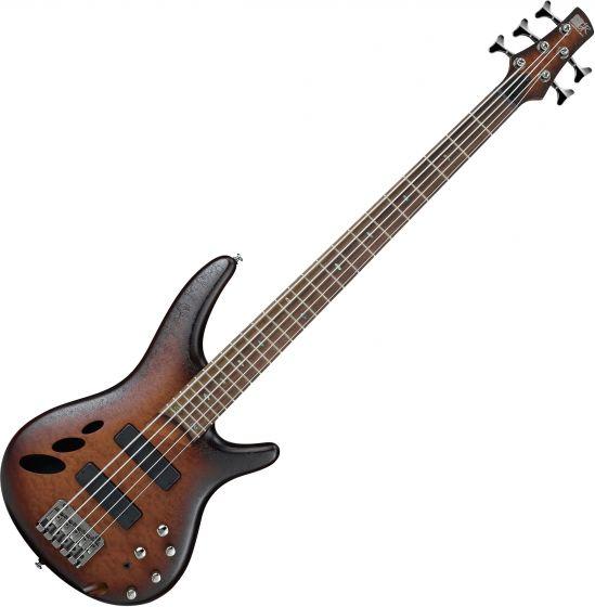 Ibanez SR Standard SR30TH5 5 String Semi-Hollow Electric Bass Natural Browned Burst Flat, SR30TH5NNF