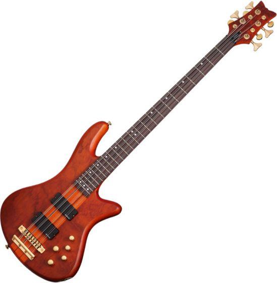 Schecter Stiletto Studio-8 Electric Bass Honey Satin, 2740