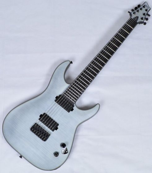Schecter KM-7 Keith Merrow Electric Guitar in Trans White Satin Finish[, 235]