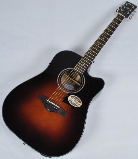 Ibanez AW4000CE-BS Artwood Series Acoustic Electric Guitar in Brown Sunburst High Gloss Finish, AW4000CEBS