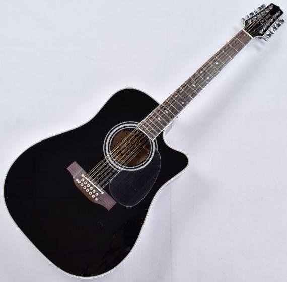 Takamine EF381SC 12 String Acoustic Guitar in Gloss Black B-Stock, TAKEF381SC