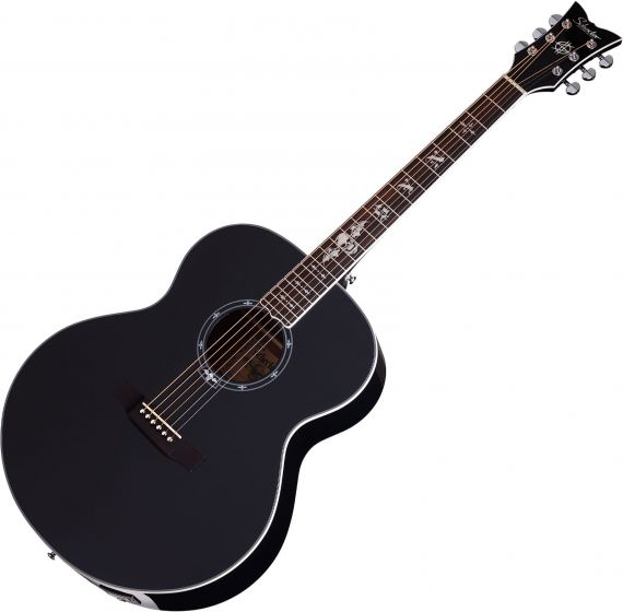Schecter Signature Synyster Gates SYN J Acoustic Electric Guitar in Gloss Black Finish, 3703