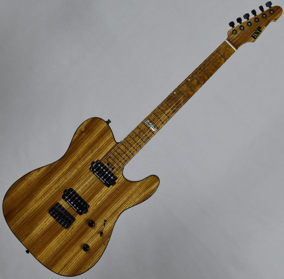 ESP USA TE-II Zebrawood Limited Edition Electric Guitar in Natural Gloss, EUSTEIIZEBNATS