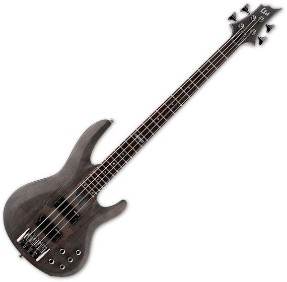 ESP LTD B-204SM Electric Bass in See Thru Black Satin, B-204SM-STBLKS