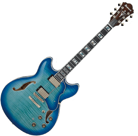 Ibanez Artstar AS153 Semi-Hollow Electric Guitar in Jet Blue Burst with Case[, AS153JBB]