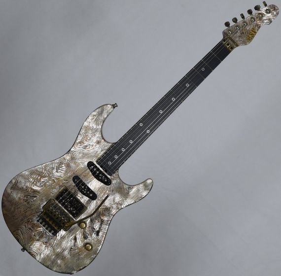 ESP Exhibition Limited Snapper-CTM FR Sand-Blast Maziora Gold Leaf Electric Guitar, EEX1742