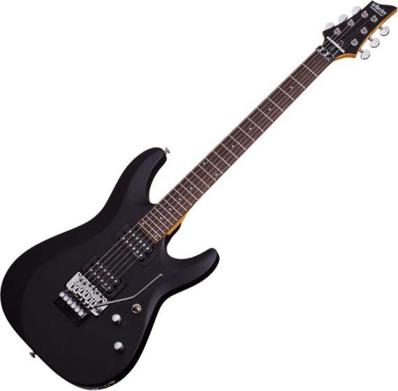 Schecter C-6 FR Deluxe Electric Guitar Satin Black, 434