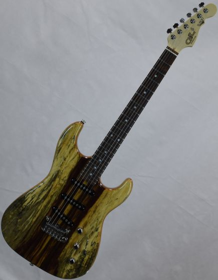 G&L USA S-500 RMC Spalted Tamarind Top Chechen Fretboard Electric Guitar Natural Gloss, USA S500RMC.NAT 9650