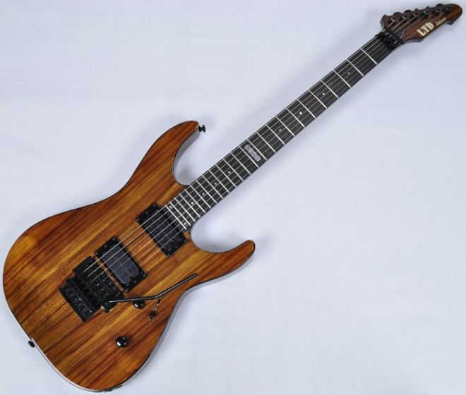 ESP LTD Deluxe M-1000 KOA Top Guitar in Natural, M-1000 KOA