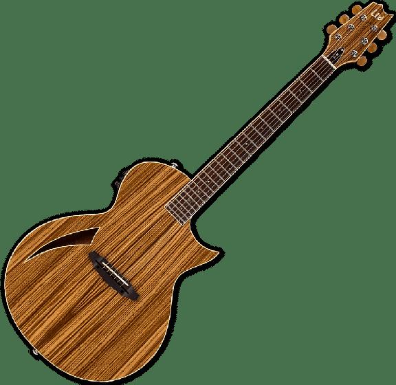 ESP LTD TL-6Z Acoustic Electric Guitar in Natural Finish, LTD TL-6Z NAT