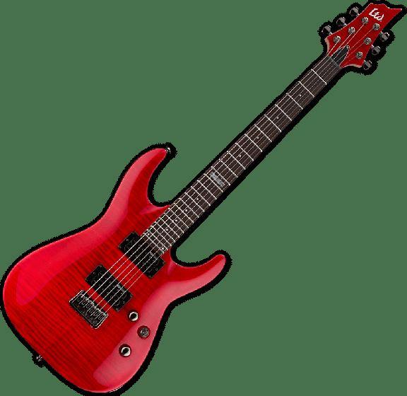 ESP LTD H-101FM Electric Guitar in See Thru Red, LTD H-101FM STR