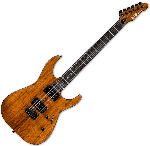ESP LTD M-1000HT Koa Top Electric Guitar in Natural, LM1000HTKNAT