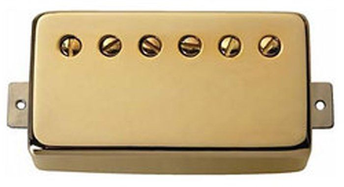 "Seymour Duncan Humbucker SH-11 Custom ""Custom"" Pickup Gold Cover, 11102-70-Gc"