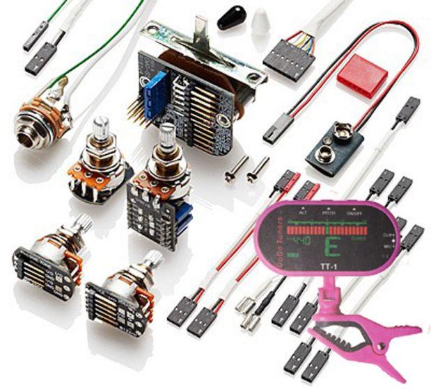 EMG 3 Pickup Conversion Wiring Kit PPP Push / Pull - Short Shaft w/ Free Guitar Tuner[, 3335.00]