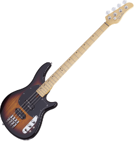 Schecter CV-4 Electric Bass 3-Tone Sunburst, 2491