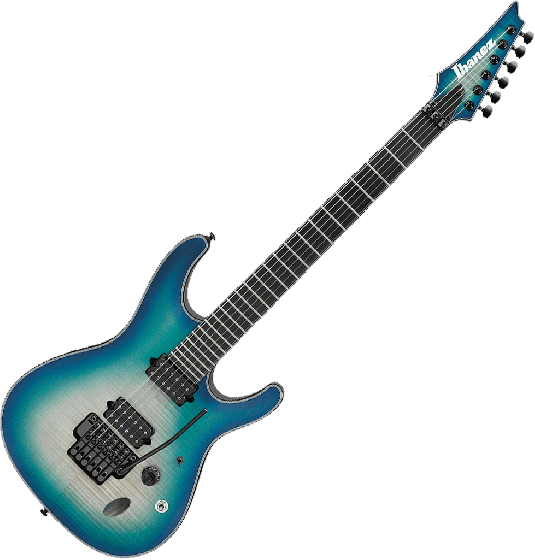 Ibanez S Iron Label SIX6DFM Electric Guitar in Blue Space Burst, SIX6DFMBCB