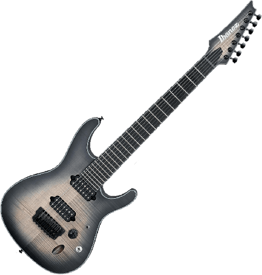 Ibanez S Iron Label SIX7FDFM 7 String Electric Guitar in Dark Space Burst, SIX7FDFMDCB