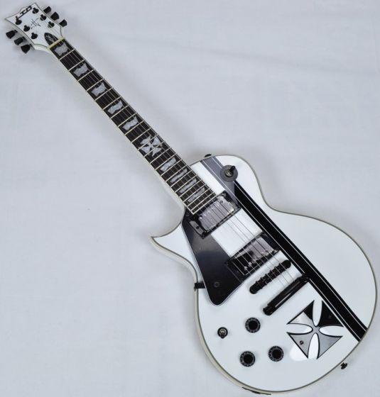 ESP LTD Iron Cross James Hetfield Left Hand Electric Guitar in Snow B-Stock, LTD Iron Cross LH