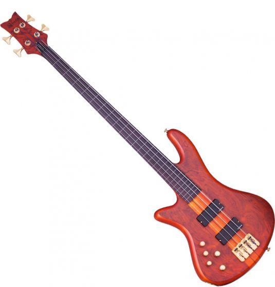 Schecter Stiletto Studio-4 Left-Handed Electric Bass Honey Satin, 2760