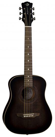 Luna Safari Art Vintage Travel Guitar w/Bag SAF ART VINTAGE, SAF ART VINTAGE