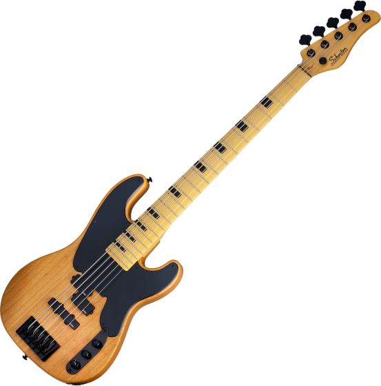 Schecter Model-T Session-5 Electric Bass Aged Natural Satin, 2847