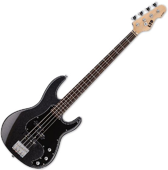 ESP LTD AP-204 Electric Bass in Charcoal Metallic, LTD AP-204 CHM