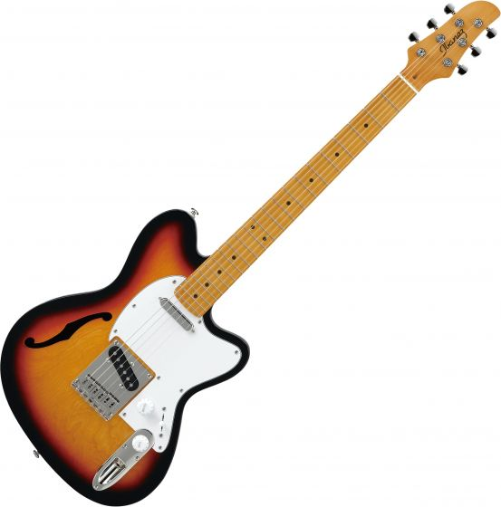 Ibanez Talman Standard TM302HM Semi-Hollow Electric Guitar Tri Fade Burst, TM302HMTFB