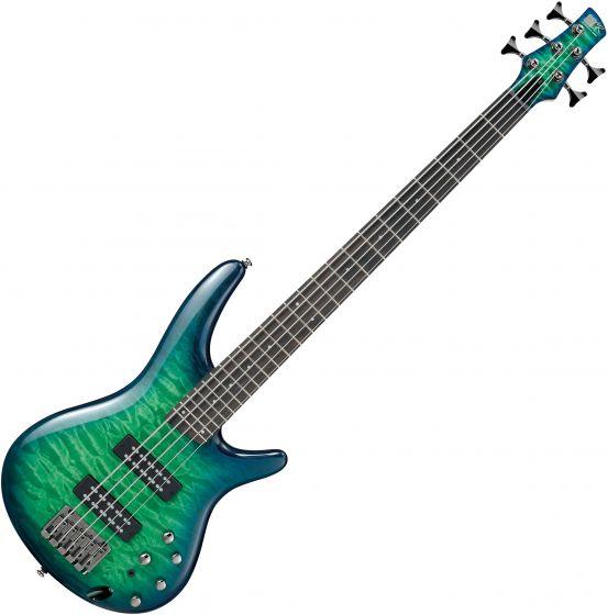 Ibanez SR Standard SR405EQM 5 String Electric Bass Surreal Blue Burst Gloss[, SR405EQMSLG]